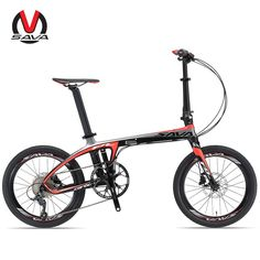 SAVA 20 inch Folding Bike T700 Carbon Fiber Frame Ultralight 9 Speed 3000 Derailleur Mini Compact City Tour Bike High Quality