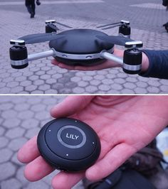 The Lily Camera is a flying camera that you can control with via control pod or GPS.