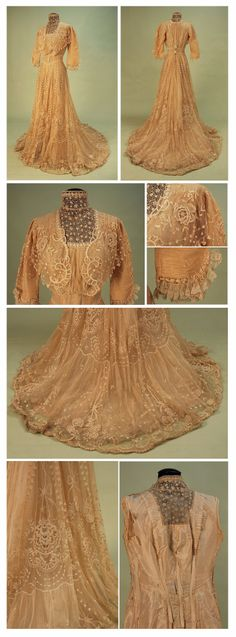 Tea gown, early 1900s