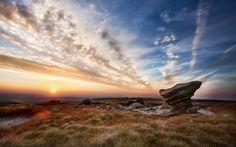 England, The Peak District, Kinder Scout Hilltop Wallpaper