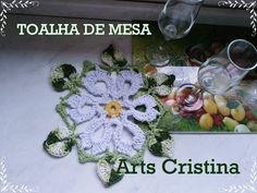 Vida com Arte | Toalha de Mesa em Crochê por Cristina Luriko - 24 de janeiro de 2015 - YouTube
