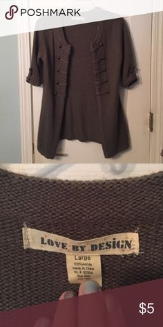 Olive Green Sweater Cardigan Olive Green Sweater Cardigan with Brass Button Decoration Love By Design Sweaters Cardigans