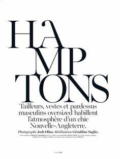 'Hamptons', Anna Ewers by Josh Olins for Vogue Paris Oct 2013 _