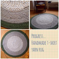 T-shirt yarn rug…..making progress. One or two more rows and I think I'm done.