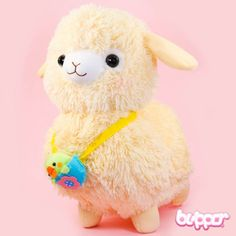 Alpacasso Plush with Bird - Medium / Yellow