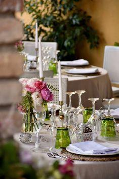 Decoración banquete. Boda romántica y elegante. Centro de mesa de peonías. Banquet decoration. Romantic and elegant wedding. Centerpiece of peonies. by Rita Experience