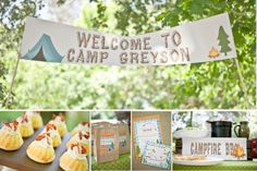 Camping Birthday Party Ideas,