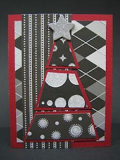 Geometric Christmas Tree Card    ETSY Shop: www.etsy.com/shop/SimplyShryerCards
