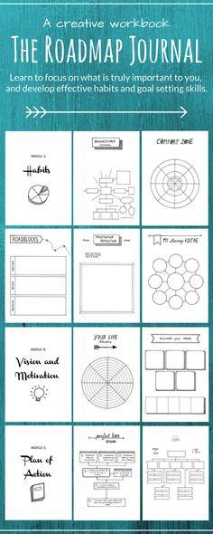 A creative journal | roadmap | habits | motivation | journal | goals | focus | printables