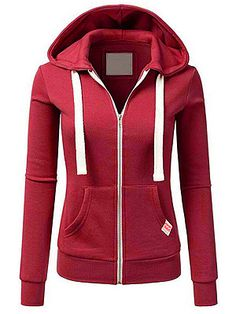 Women Long Sleeve Patchwork Solid Color Hooded Zipper Casual Sport Coat Pullovers Hooded Coat Color blue Size S Plain Hoodies, Crop Tops, Hoodie Jacket, Long Hoodie, Types Of Sleeves, Casual, Ideias Fashion, Girls, Zip Ups