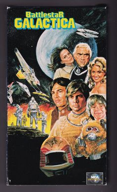 Battlestar Galactica VHS Tape MCA / Universal by ViewObscura