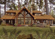 Wisconsin Log Homes- Amber Ridge floorplans Log Cabin Homes