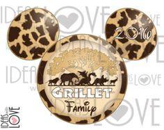 Mickey Mouse Disney Animal kingdom Family Vacation by IdeasLove