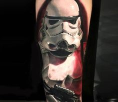 Stormtrooper tattoo by Michael Taguet