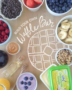 Build your own waffle bar with 9 tasty topping ideas and homemade waffles!