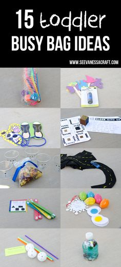 (busy bag swap) 15 toddler busy bag ideas -