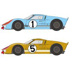 1:24 Ford GT40 Mk II 1966LM #1/5 Decals (Fujimi)
