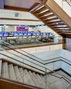Fordham University Trading Room with Innovant's FORm_office by Richard Cadan Photography Mike Young, Fordham University, Higher Education, Open Plan, Case Study, Modern Design, How To Plan, Architecture, Nyc