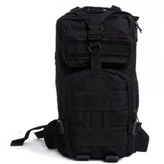 HDE Heavy Duty Lightweight Expandable 20L Outdoor Military Tactical MOLLE Assault Backpack (Black) - http://backpackingandcampingessentials.com/camping-gear/hde-heavy-duty-lightweight-expandable-20l-outdoor-military-tactical-molle-assault-backpack-black/