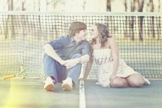 Love at tennis court