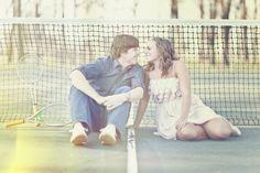 Love at tennis court