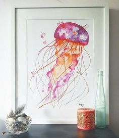 Fantastic work from @jessiefaye.art check out their page for more great art. 'A new colour wave for my jellyfish! Each one is hand painted and unique! For sale today in @mist_collective '  #art #illustration #drawing #draw #picture #artist #sketch #sketchbook #paper #pen #pencil #artsy #instaart #beautiful #instagood #gallery #masterpiece #creative #photooftheday #instaartist #graphic #graphics #artoftheday