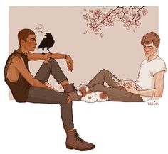 the raven cycle | trc | ronan lynch x adam parrish | pynch | chainsaw