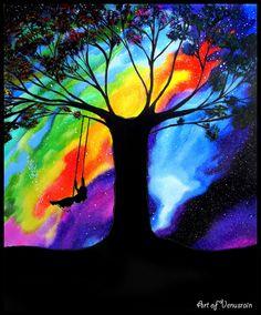 The Tree Swing: 30x40 acrylic on canvas.