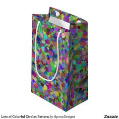 Lots of Colorful Circles Pattern Small Gift Bags, Circle Pattern, Color Patterns, Circles, Colorful, Artwork, Fun, Gifts, Design