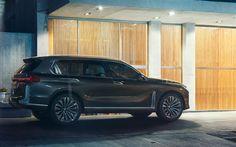Download wallpapers BMW X7, 2017, 4k, new luxury SUV, German cars, BMW
