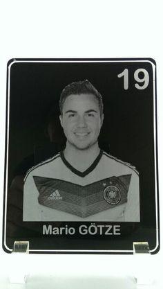 Mario Götze Acrylbild Lasergravur WM2014