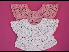 Crochet best yokes from Majovel Crochet English.I hope your week was great. In recent weeks I have brought a series of canesus to the channel. Crochet Baby Dress Pattern, Crochet Yoke, Crochet Girls, Crochet Baby Clothes, Crochet Woman, Crochet Ideas, Crochet Cats, Crochet Animals, Crochet Baby Dresses