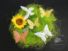 Fluturasi din hartie transparenta cu tehnica pergamano / 3 Dandelion, Creative, Flowers, Plants, Dandelions, Florals, Plant, Flower, Bloemen