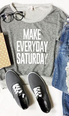 Make Everyday Saturday adorable tee