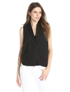 Lark & Ro Women's Woven Crossover Top - Throw-On-and Go Shirts http://trendtags.net #fashion #summer2015