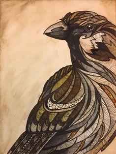 Aquarel en inkt / watercolor and ink
