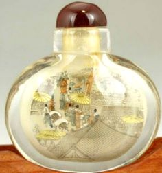 Chinese glass snuff bottle. Tiny interior by EvasCollections, $44.99