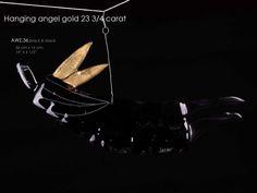 hanging angel 23 3/4 carat 36 cm black & black