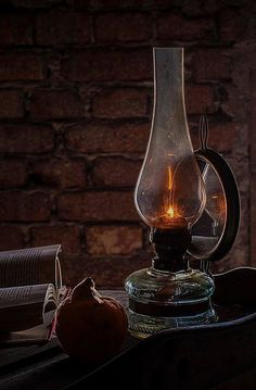 An oil lamp burning in the cabin. Beautiful Lights, Beautiful Pictures, Foto Gif, Candle Lanterns, Lamp Light, Color Splash, Still Life, Black And White, Green Orchid