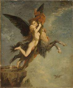 Gustave Moreau, French (Paris 1826 - 1898 Paris)   The Chimera 1867.