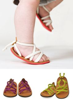 These sandals are cute and this site is filled with great links to other cute kiddie things.