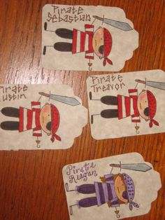 Pirate Tags by Pink Polka Dots - Cards and Paper Crafts at Splitcoaststampers