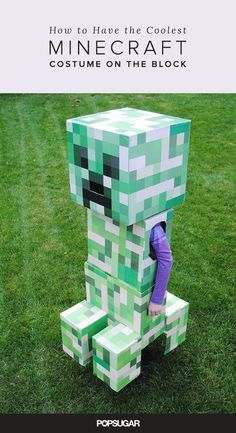 If your tot has gotten swept up in Minecraft mania, then chances are they'll be begging to dress as one of the game's characters this year. Here's 11 halloween costumes from store-bought finds to DIY creations for your little gamer. Minecraft Halloween Costume, Creeper Costume, Diy Halloween Costumes For Girls, Minecraft Costumes, Robot Costumes, Skeleton Halloween Costume, Minecraft Party, Couple Halloween, Halloween Stuff