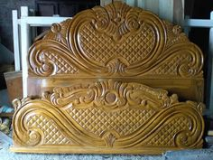 Simple Bed Designs, Double Bed Designs, Box Bed Design, Bedroom Bed Design, Wooden Sofa Set Designs, Wooden Main Door Design, Bed Furniture, Wooden Doors, Carved Beds
