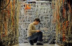 Server Room - If real, this is the worst case of a unorganized server room I have ever seen!