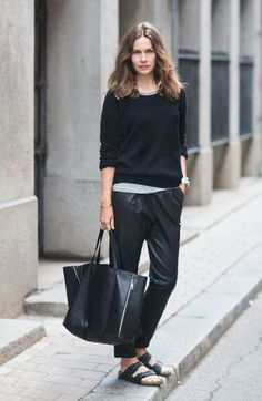 Relaxed, lounging street style from Caroline Blomst