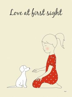 Cute Love at First Sight Dog Print from @Etsy