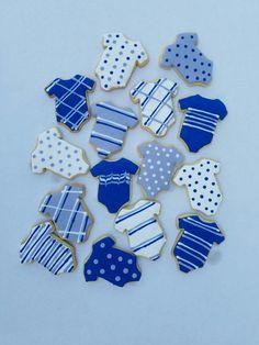 Its a boy! Sugar cookies! Baby boy onsies