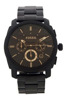 A black ionplated stainless steel case bracelet and bezel. It has dark brown dial with luminous black hands and index hour markers. It is a perfect watch for casual and sporty wearing. It is a multifu
