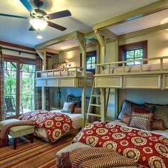 If the guests have children, then the kids can stay in the bunk beds!